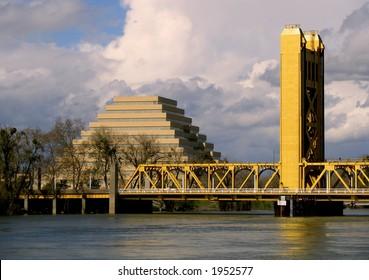 Pyramid and Tower Bridge Sacramento