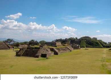 pyramides at mount alban near oaxaca mexico