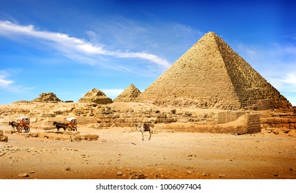 Pyramids in afternoon