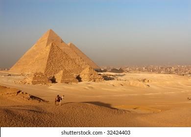pyramids and cairo