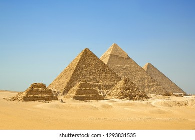 The Pyramids, Giza, Cairo, Egypt.