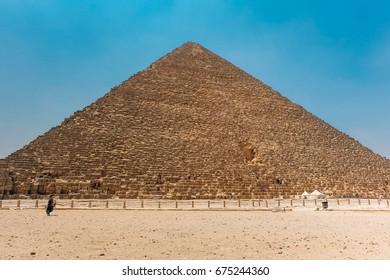 the pyramids of Giza at Cairo, Egypt.
