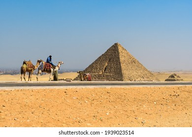 The Pyramids of Giza. the picture taken from Cairo,Egypt.