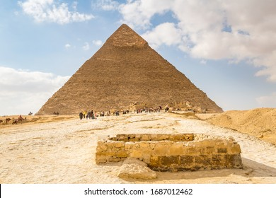 Pyramids of Giza and Sphinx in Egypt