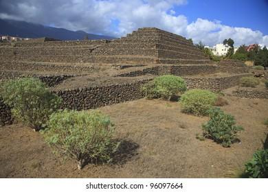 The Pyramids of Güímar (Guanches step pyramids de Guimar), Tenerife, Canary Islands, Spain