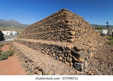The Pyramids of Guimar (Guanches step pyramids de Guimar), Tenerife, Canary Islands, Spain