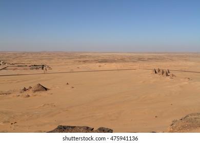 The pyramids of Jebel Barkal in Sudan