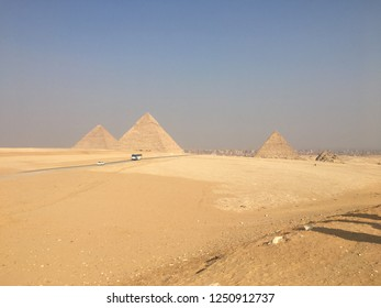 The Pyramids seen from the Desert