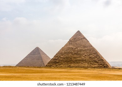 Pyramids and Sphinx in Giza