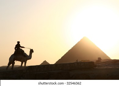 Pyramids with sunset