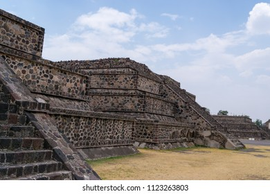 Pyramids of Teotihuacan are about 50 km from Mexico City. April 2016.