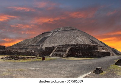 Pyramids in Teotihuacan - Mexico