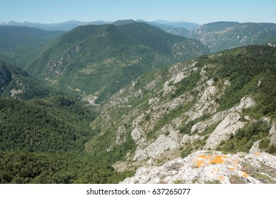 Pyrenean landscape in Aude, Occitanie in south of France