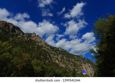 Pyrenean landscape in Aude , Occitanie in the southern of France