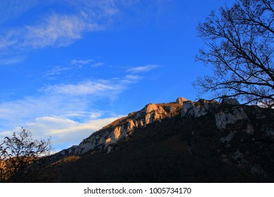 Pyrenean mountain in Aude. Occitanie in south of France