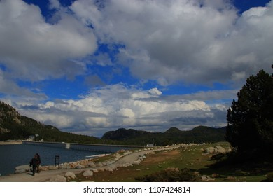 Pyrenean mountains in Capcir, Pyrenees orientales in southern of France