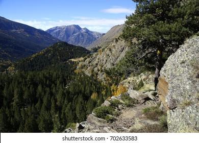 Pyrenees mountain hiking