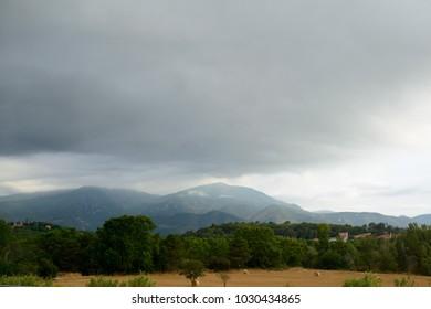 Pyrenees mountains landscape. Alt Urgell, Spain