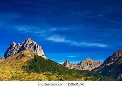 Pyrenees mountains summer landscape.