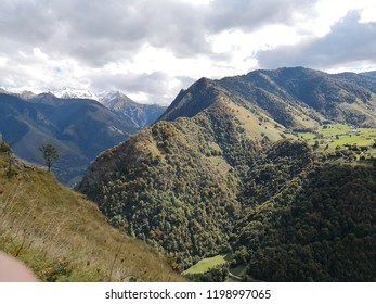 Pyrenees panoramic view near Lescun Pays Basque France