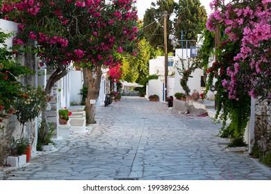 Pyrgos (Panormos) village in Tinos island, Greece
