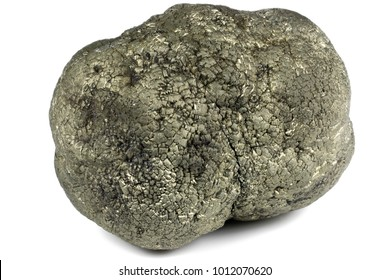 pyrite ball from Hohenems/ Austria isolated on white background