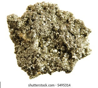 Pyrite (fool's gold), isolated