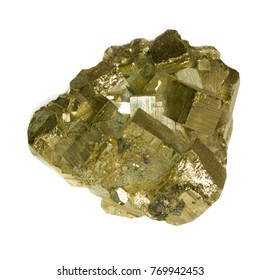 pyrite isolated on white
