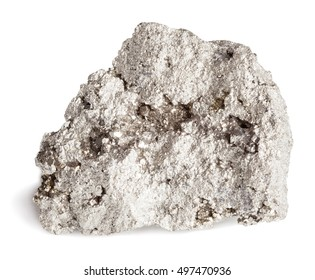 Pyrite isolated on white with clipping path