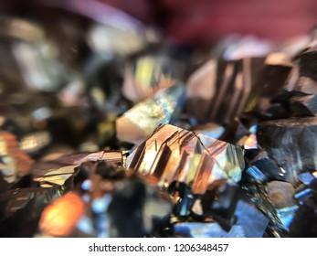 pyrite macro photograph