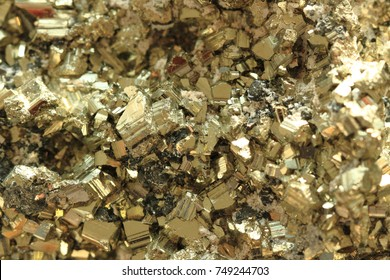 pyrite mineral texture as nice golden background