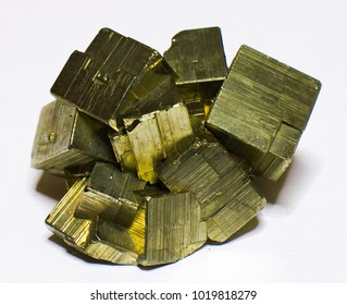 Pyrite single mineral stone, fool's gold, cubic gems
