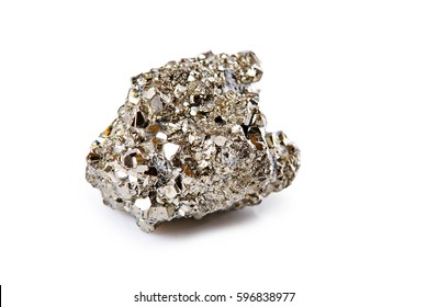 pyrite stone isolated