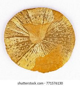 Pyrite sun. Closeup.