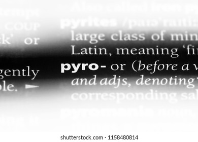 pyro word in a dictionary. pyro concept.