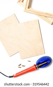 A pyrography tool  on white background