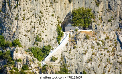Pythagoras entrance to the cave, Greece, the island of Samos
