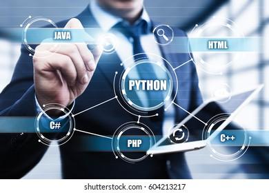 Python Programming Language Web Development Coding Concept