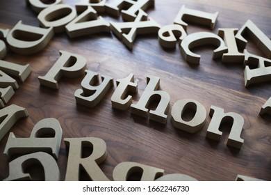 Python wooden blocks , programming language