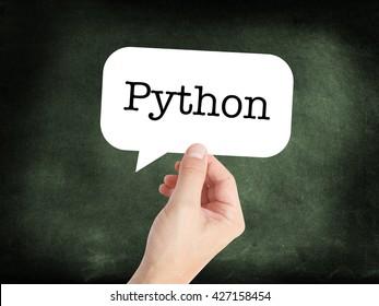 Python written on a speechbubble