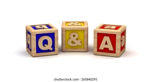 Q & A Cube Text