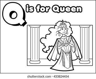 Q is for Queen Coloring Activity