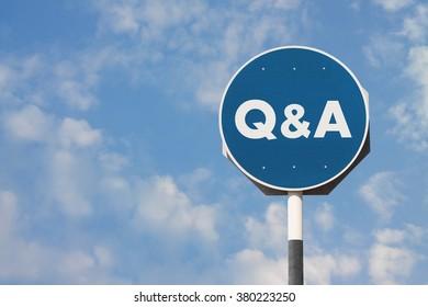 Q & A Sign