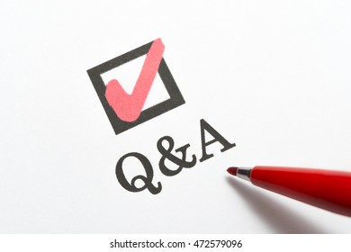 Q&A, check box