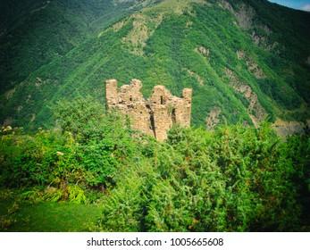 Qakh district, Ilisu, Azerbaijan. Amazing landscape, nature.
