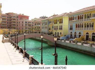 Qanat Quartier, The Pearl, Qatar: it is a copy of Venice architecture