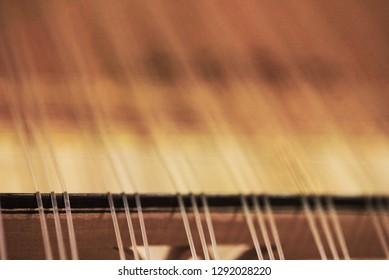 Qanun or Kanun. Greek and Turkish musical instrument. Closeup photo.