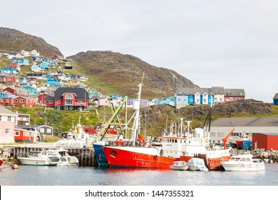 Qaqortoq in greenland in Sommer