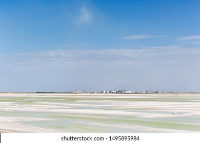qarhan salt lake industrial landscape, golmud city, qinghai province, China