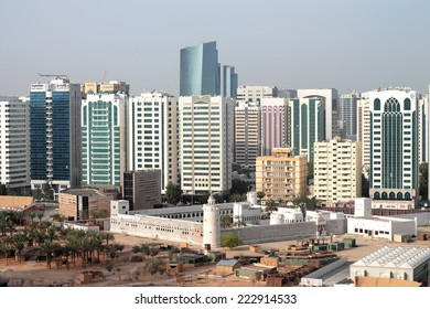 Qasr Al Hosn, Abu Dhabi, United Arab Emirates - October, 2014 : Qasr al Hosn is the symbolic birthplace of Abu Dhabi, began life in the 1760s as a coral and sea stone watchtower now a heritage museum
